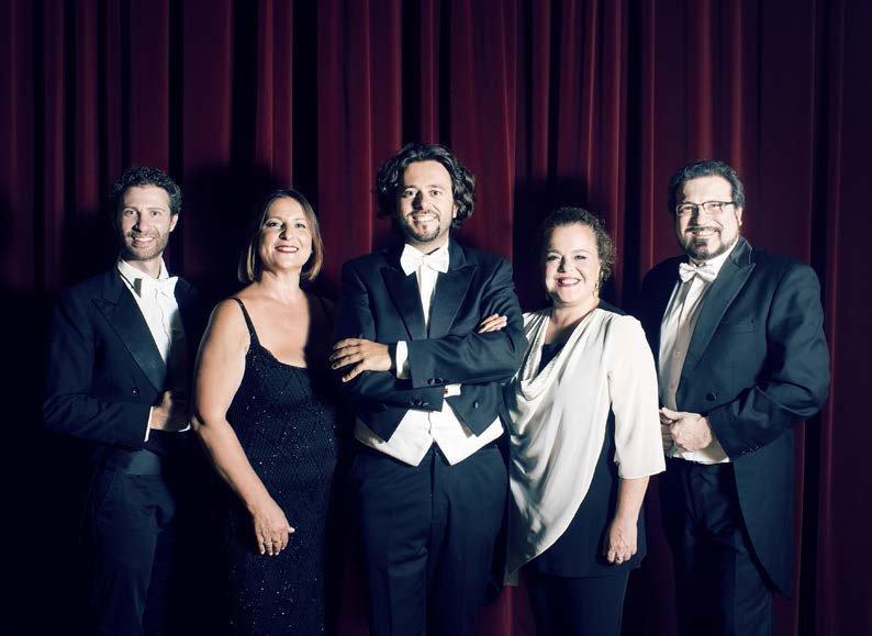 il direttore Filippo Arlia con Maria Pia Piscitelli, Sonia Ganassi, Oreste Cosimo e Carlo Colombara