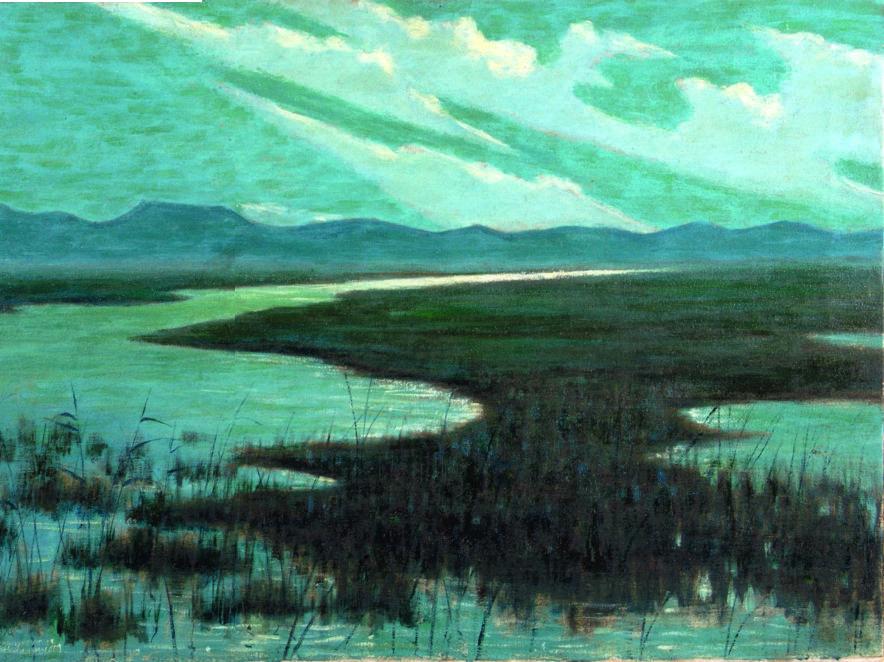 Ferruccio Pagni, Canale di Torre del Lago, 1901 circa