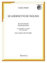 libro quadernetto di violino