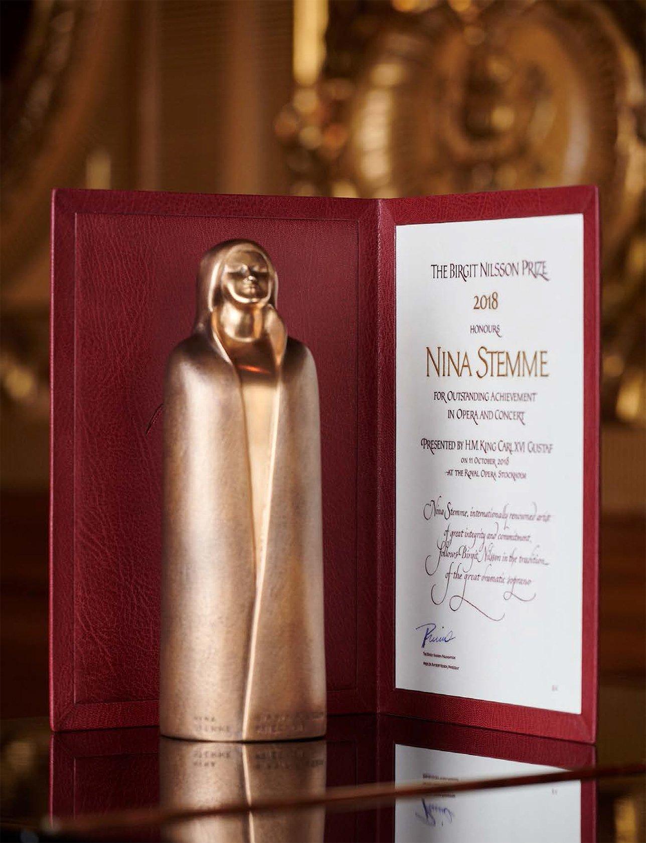 Birgit Nilsson Prize, vince Nina Stemme